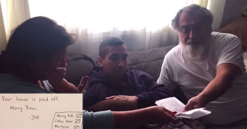 Son Brings Parents to Tears, Pays Off Their Mortgage for Christmas