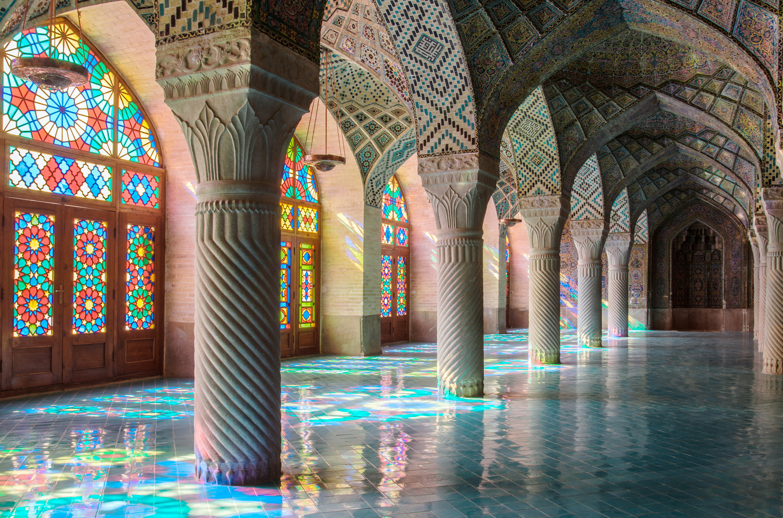 The mosque was built between 1876 and 1888 and is one of a handful of mosques in the world with stained glass windows.