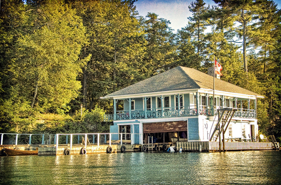 This boathouse cottage in Ontario, Canada.