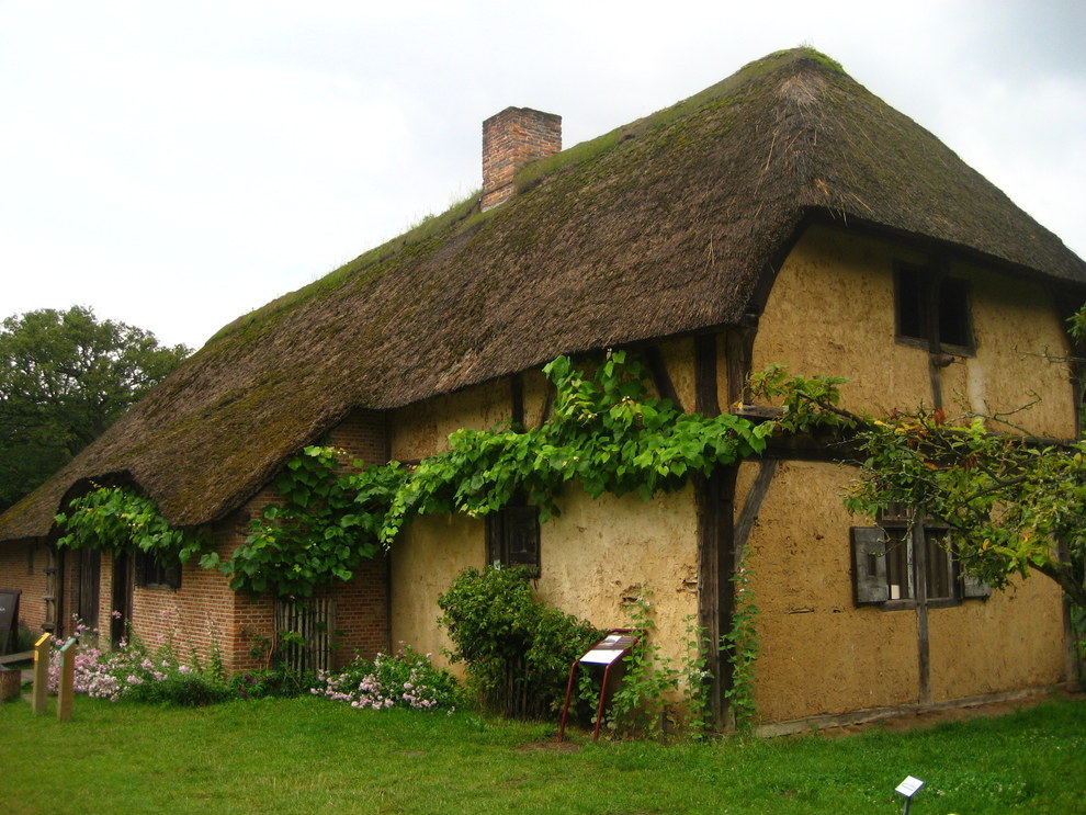 This Flemish Thatched cottage in Belgium.