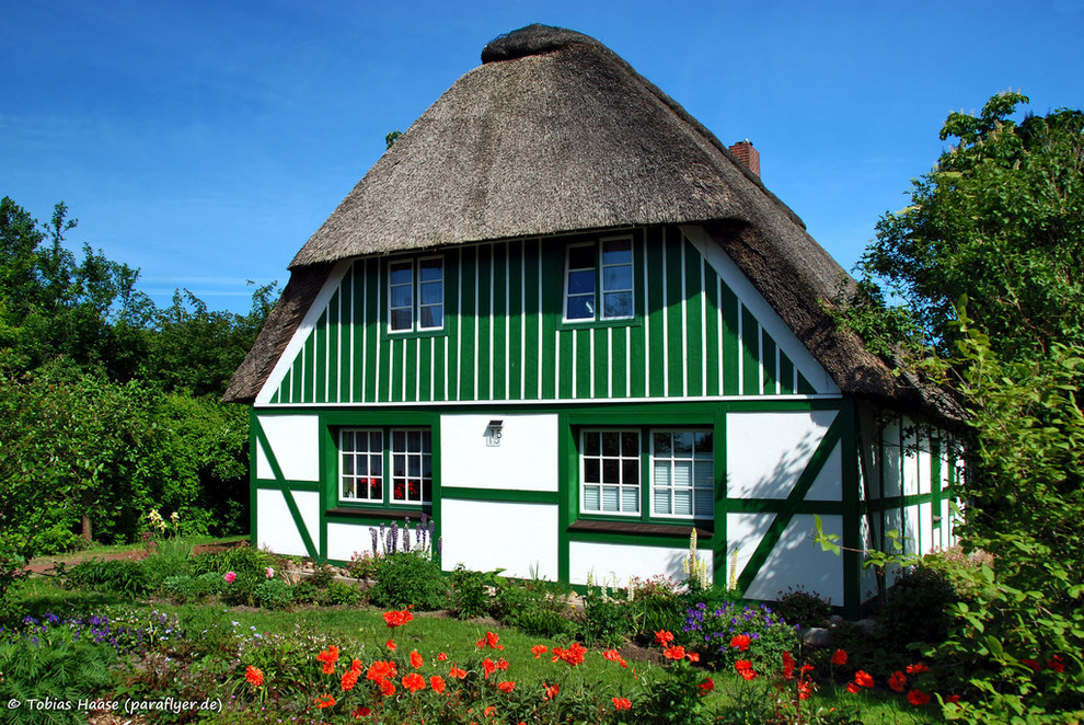 This romantic cottage in Schleswig-Holstein, Germany.