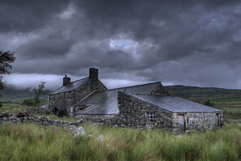This rustic cottage in Wales.