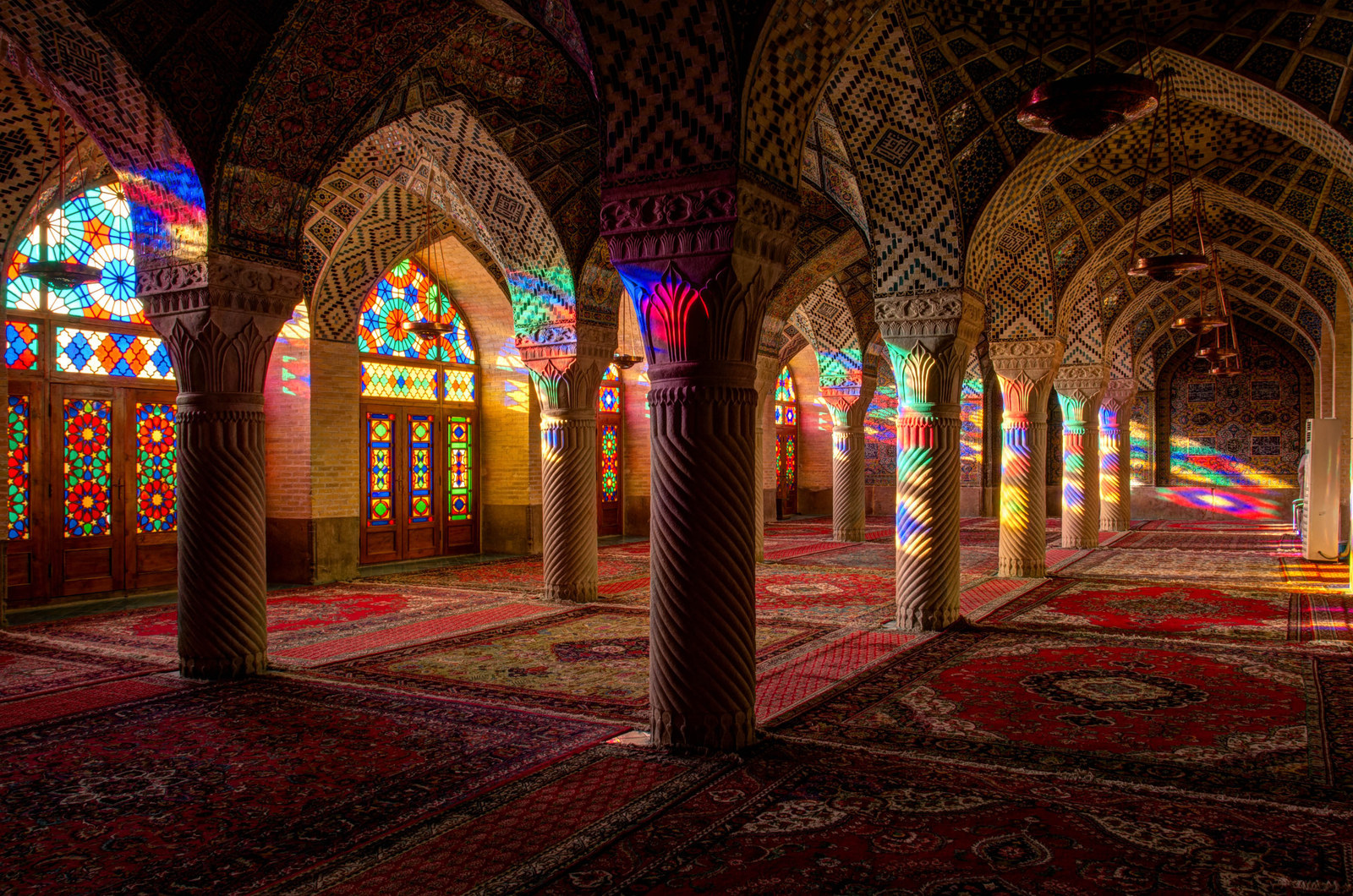 This Sunlit Mosque In Southern Iran Is A Kaleidoscope Of Colour