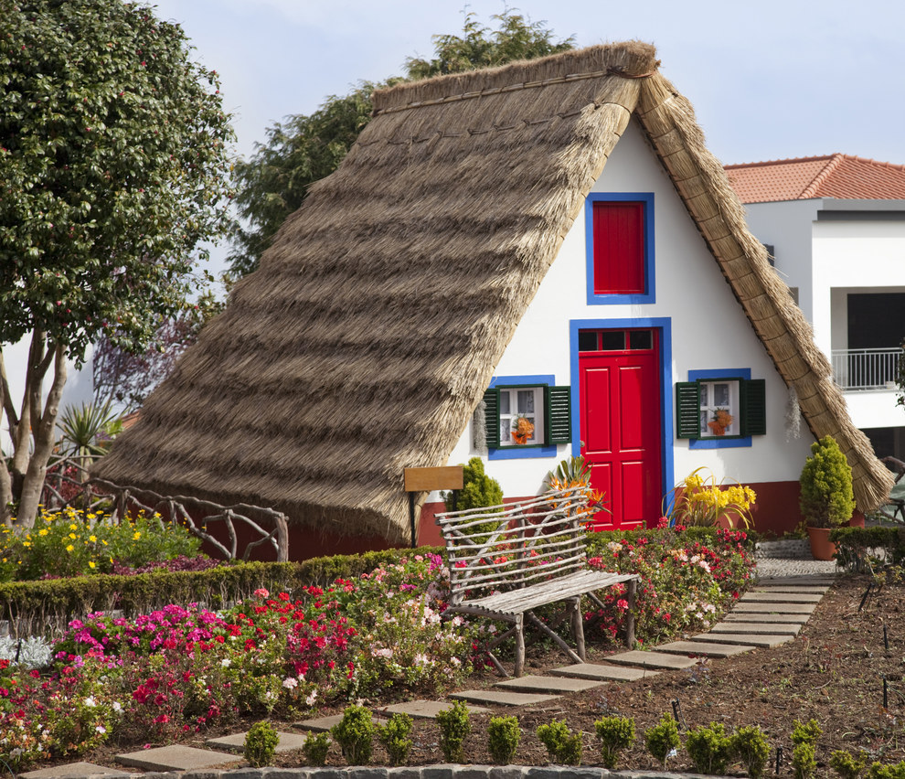 This traditional cottage from an island of Portugal.