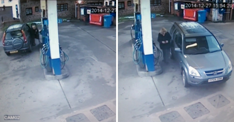 This Woman Can't Figure Out How to Line Up Her Gas Cap with the Gas Pump