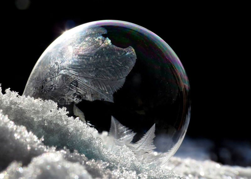 What Happens When You Blow Soap Bubbles in Freezing Cold Weather