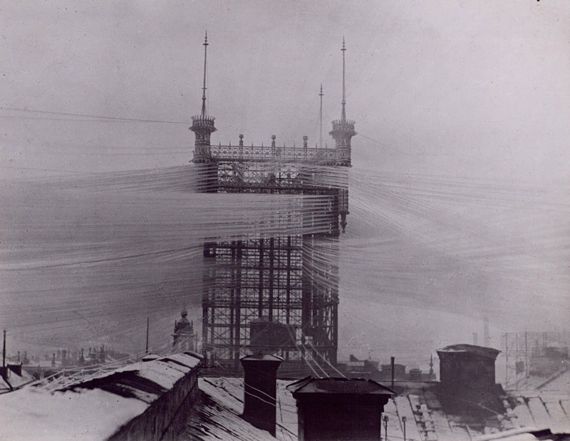 100 Years Ago this Telephone Tower in Stockholm Connected 5000 Telephone Lines