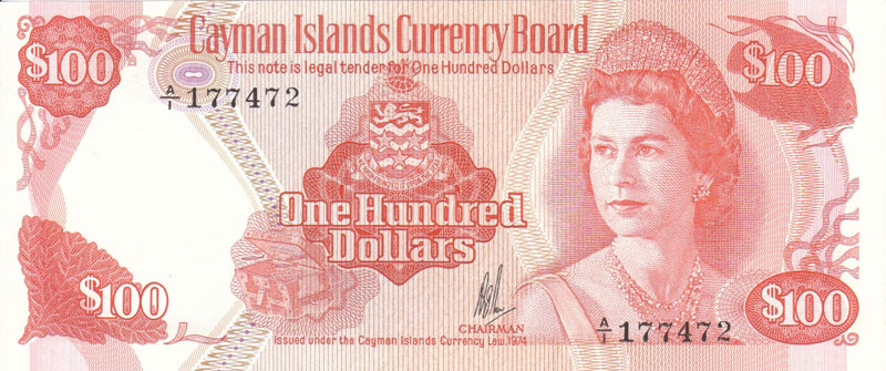 CAYMAN ISLANDS, 100 DOLLARS, AGE 34