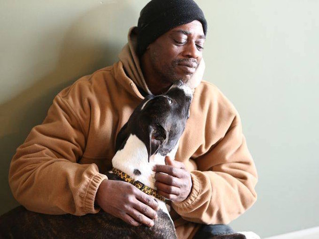 A man who was willing to sleep outside during a brutal winter in order to stay with his beloved dog is getting back on his feet thanks to the kindness of strangers.