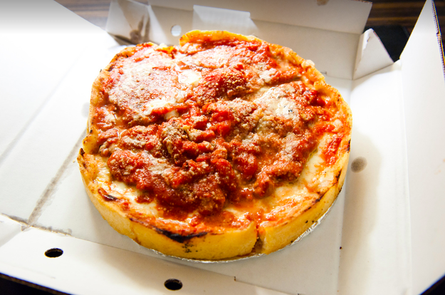 A personal cheese, sausage, or pepperoni deep dish at Lou Malnati's Pizzeria.