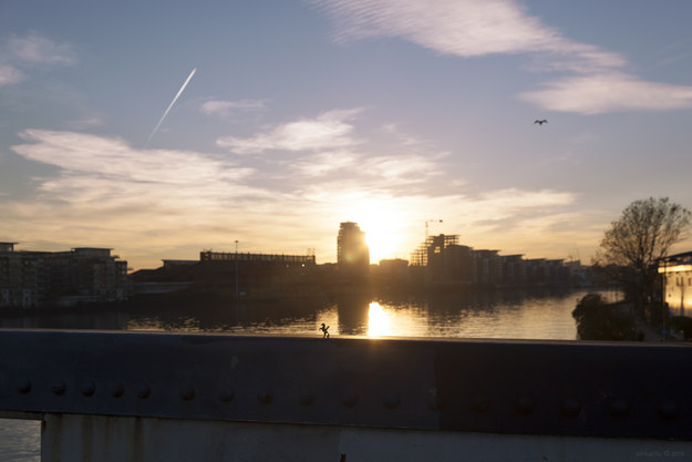 A wide shot to reveal where they were, such as this one on Wandsworth Bridge.