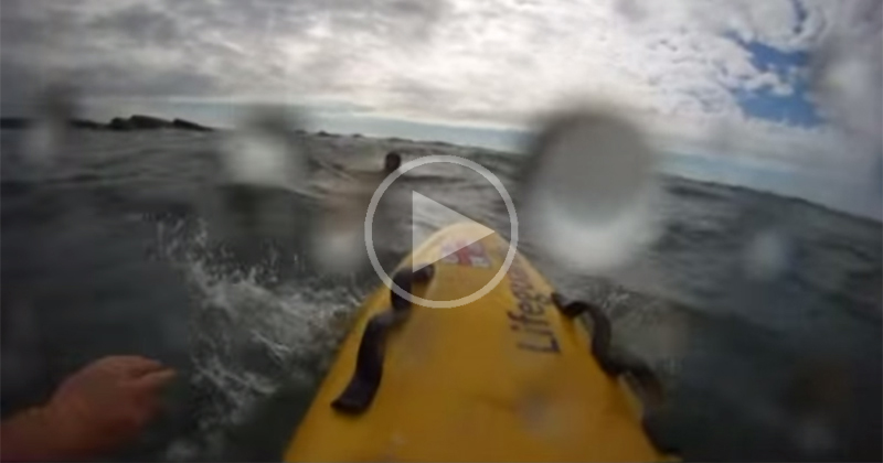 Amazing First-Person Perspective of Lifeguard Rescuing Boy Caught in Rip Current