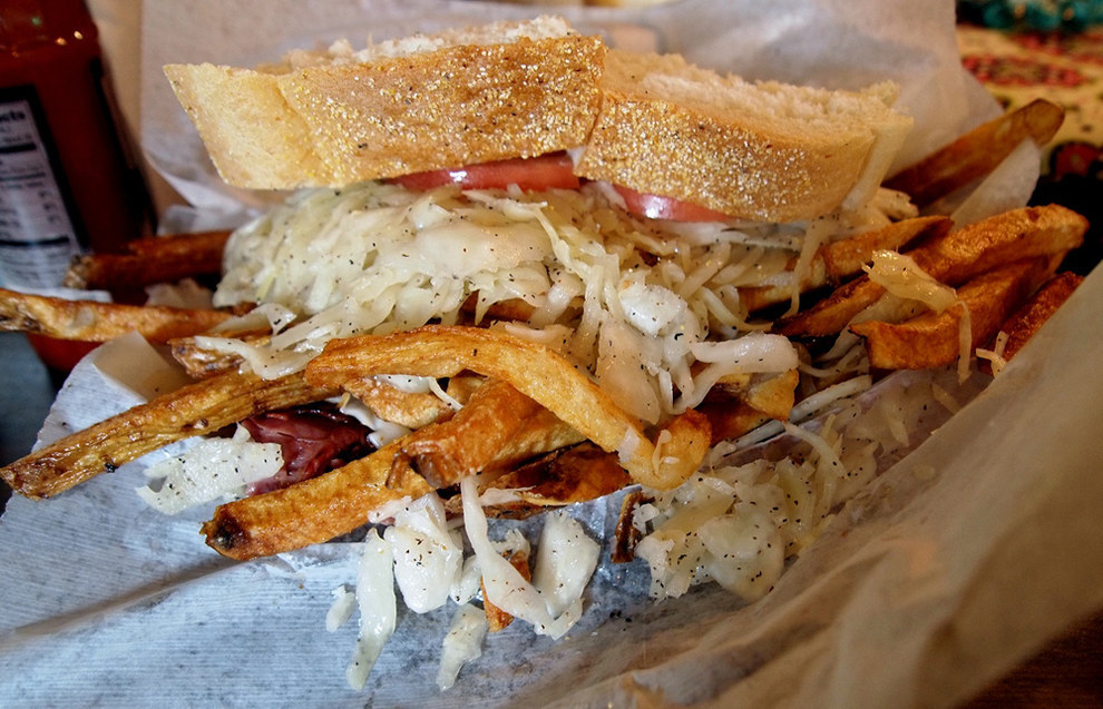 And for some reason, not all establishments put fries and coleslaw IN the sandwiches like Primanti Bros.