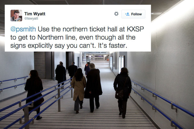 And still at King s Cross  if you want a quick way to the Northern line. 25 Essential London Underground Hacks That Will Improve Your Day