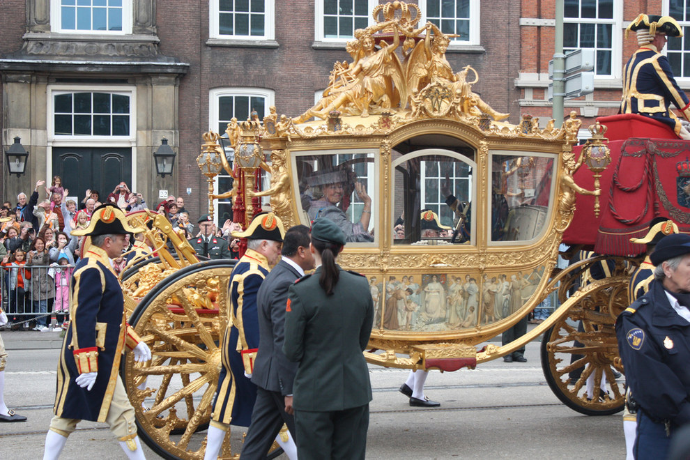 And the royals travel around in ugly carriages like this.