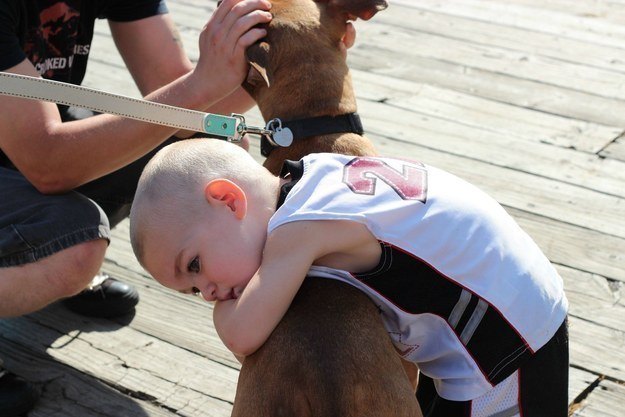 And this little man who is all about dishing out the loving hugs to his bud.