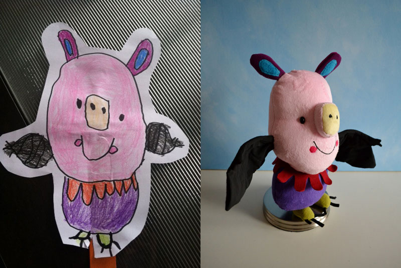 turning kids drawings into plush toys by childs own studio wendy tsao (11)