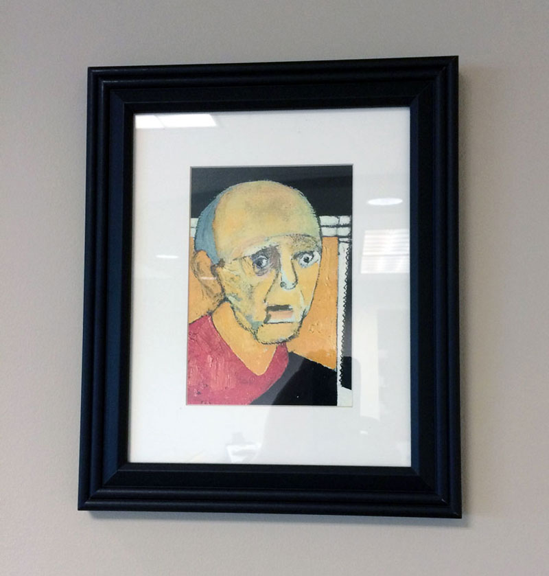 william utermohlen's Battle with Alzheimer's Documented Through Self Portrait Paintings (3)