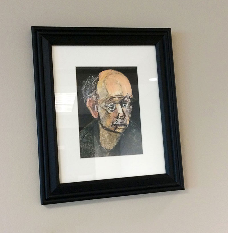 william utermohlen's Battle with Alzheimer's Documented Through Self Portrait Paintings (4)