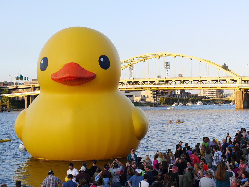 Because you get used to awesome tourists like Rubber Duck taking up residence in your city.