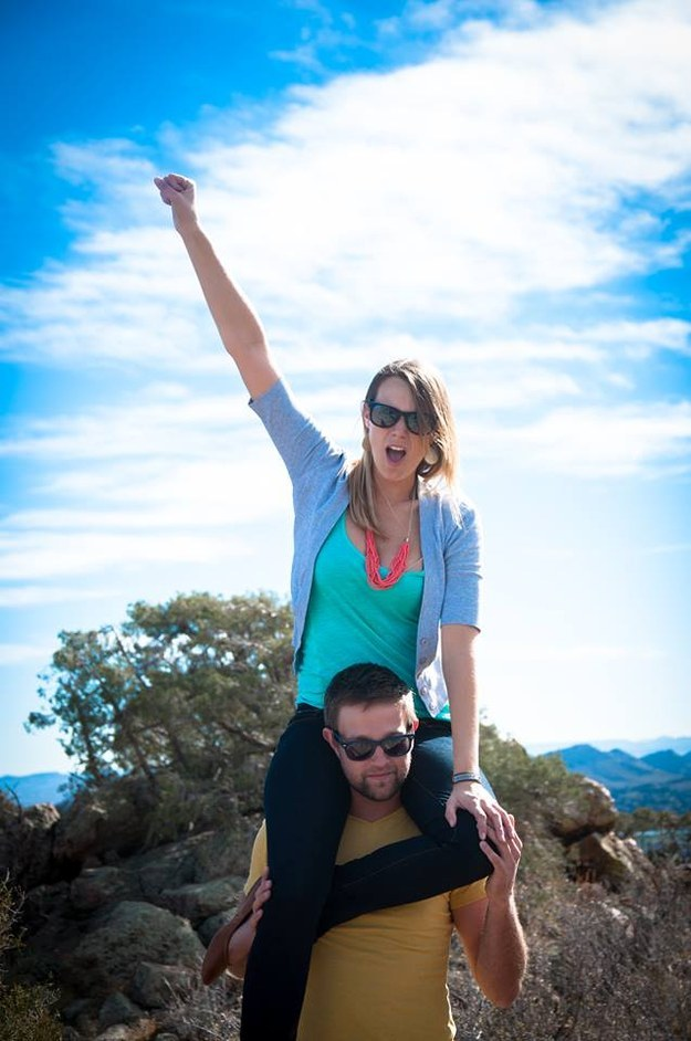 Brett Arnold, 30, and Amy Linville, 28, have been together eight years and love to travel. And when Arnold, a project manager, decided to propose to Linville, an instructional designer at a college, he went all out. Like ALL OUT, all out.