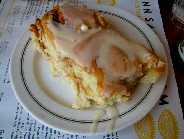 Cinnamon rolls from Ann Sather.