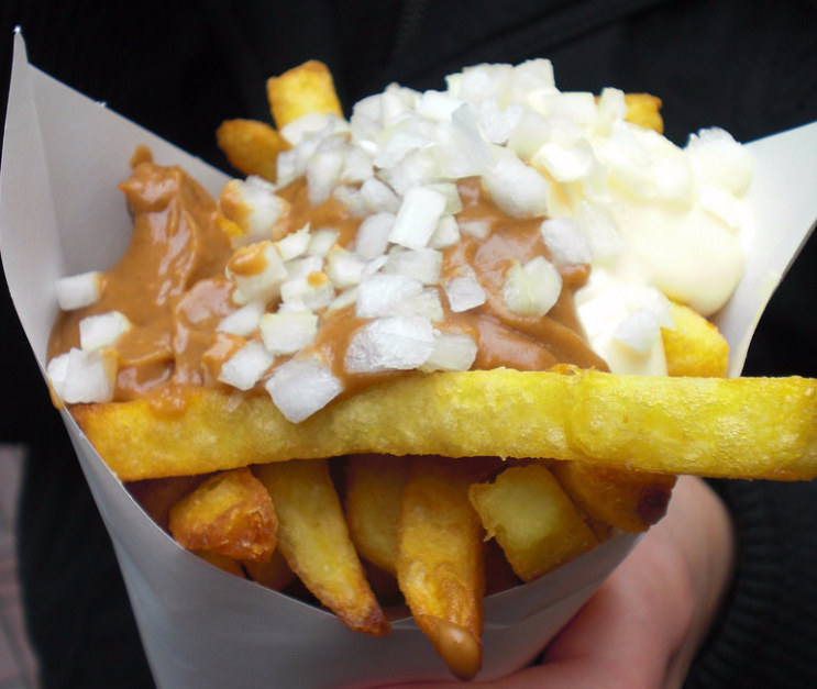 Dutch people do strange things to their fries.