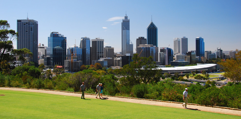 Even PERTH, with its population of 17, has a way better skyline than Sydney.
