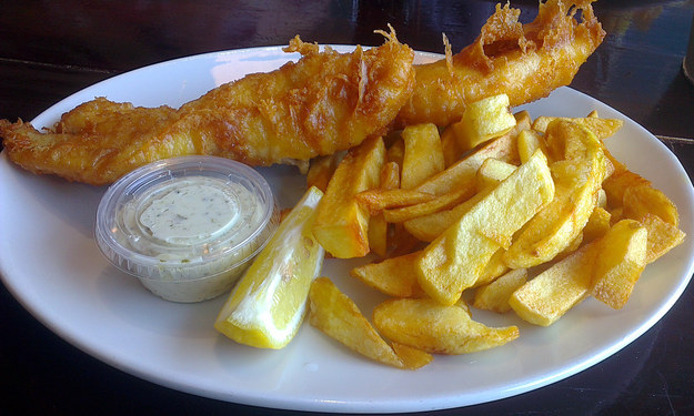 Fish and chips from The Cod's Scallops