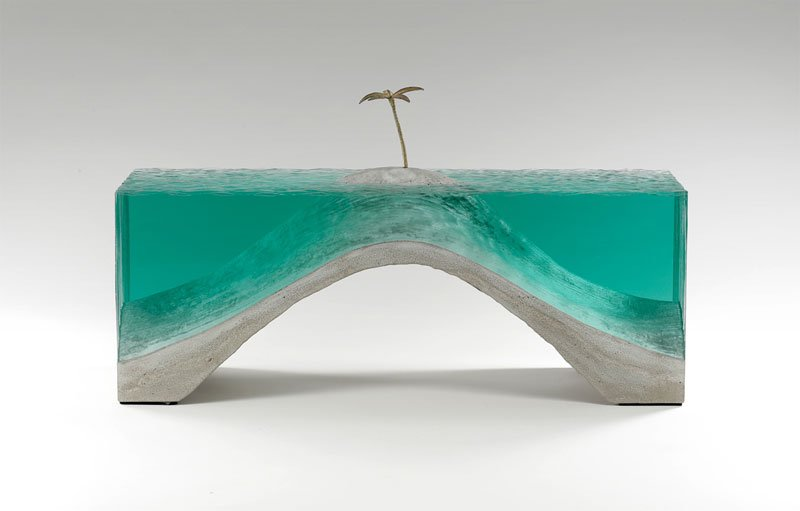 ben young glass wave sculpture 4
