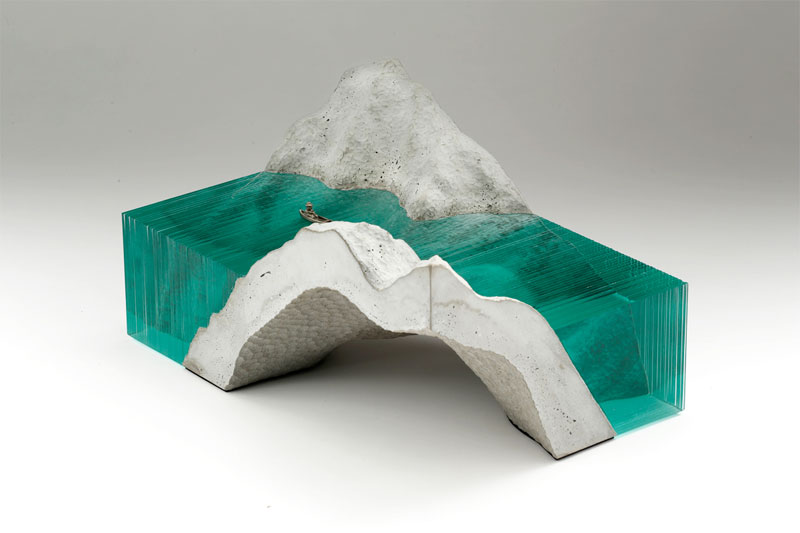 ben young glass wave sculpture 2