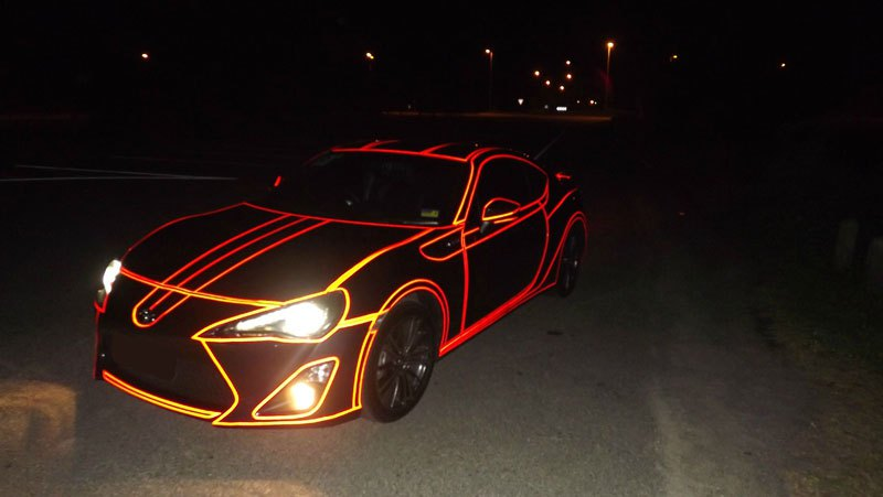 this guy made a tron car using reflective vinyl tape (4)