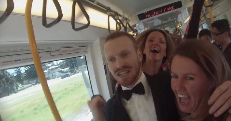 Guy Starts Awesome Dance Party on a Train in Perth