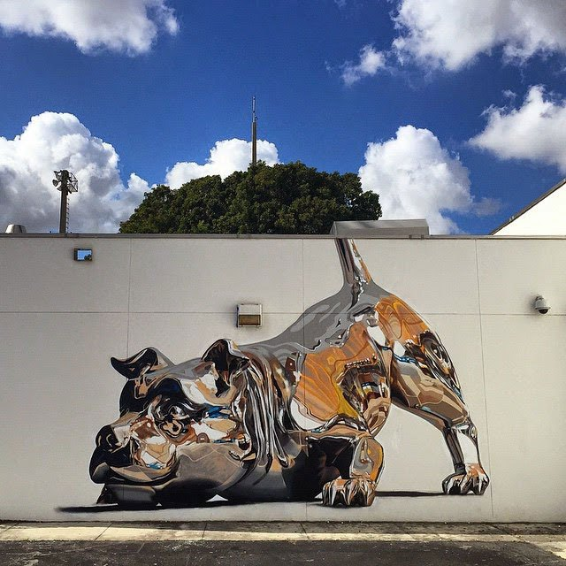 chrome dog mural by bikismo art basel miami 2014 (4)