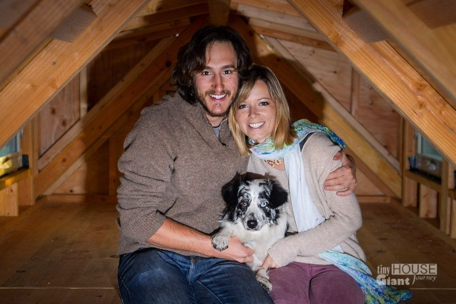 Meet Jenna Spesard, Guillaume Dutilh, Salies the pooch, and their tiny house.