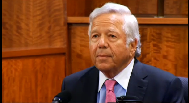 Patriots owner Robert Kraft testified Tuesday in former Patriots player Aaron Hernandez's murder trial. His appearance as a witness comes as the prosecution prepares to rest their case.