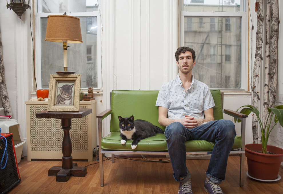 """""""I want to show that regardless of the stereotypes put on cat ownership, many people have found the joy that cat companionship can bring,"""" he said."""