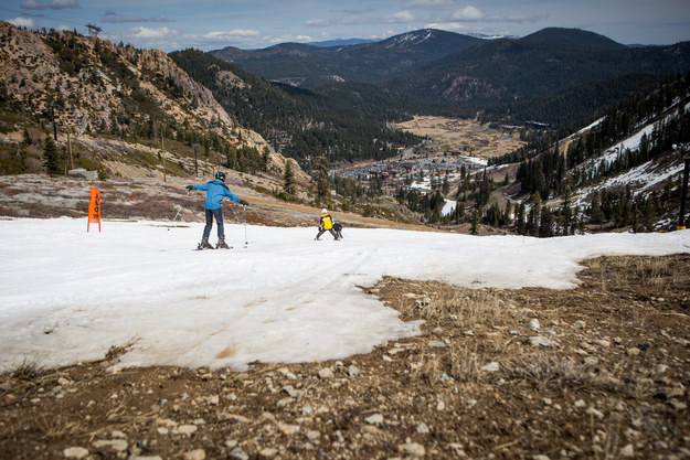 Seven resorts in Lake Tahoe have had to close early because there is not enough snow to cover their slopes, The Sacramento Bee reported.