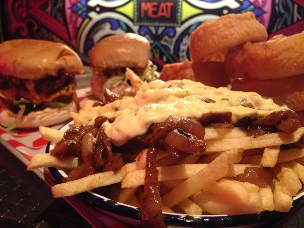 The Dead Hippie Burger at Meat Liquor