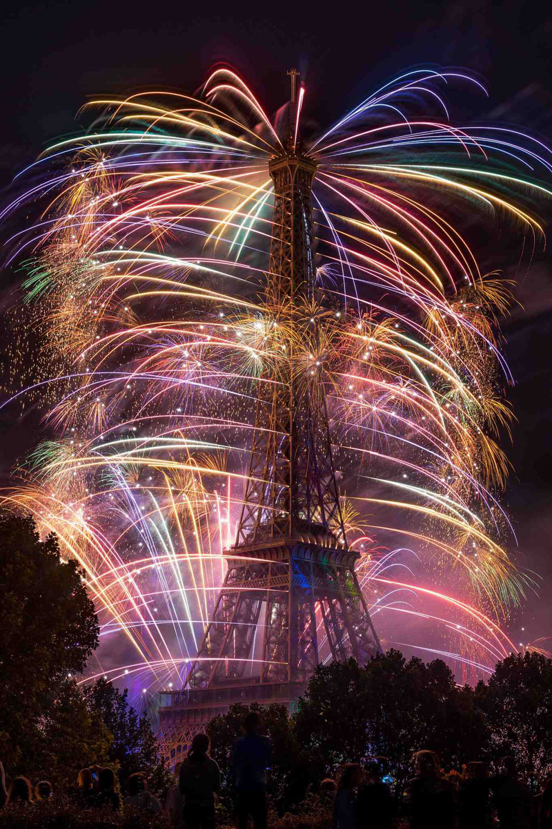 The Eiffel Tower on Bastille Day