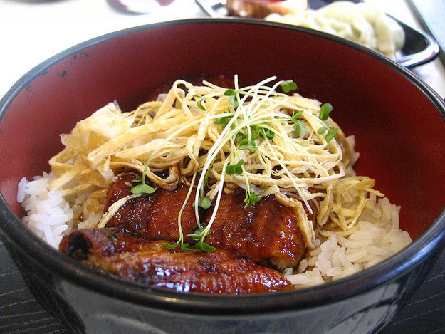 The Tofu Unagi Don at Pompoko