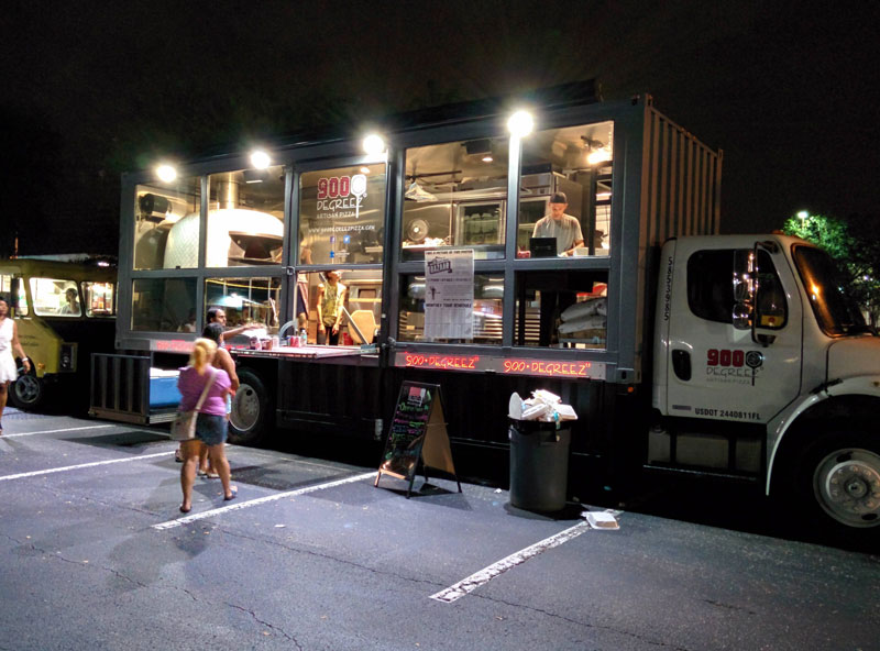 This Food Truck Rolls Around with a 3,500 pound Wood-Fired Oven