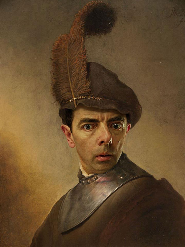 rodney pike photoshop mr bean into famous paintings (10)