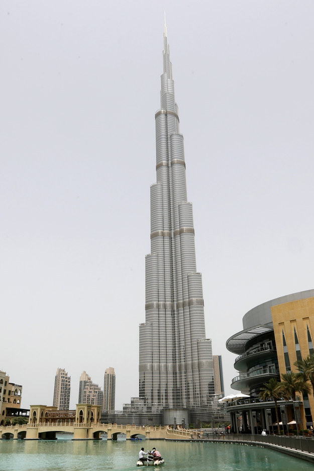 This is the Burj Khalifa building in Dubai. At 2,722 feet, it is the tallest building in the world.
