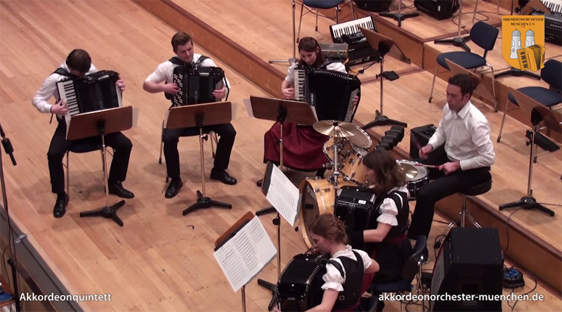 This is What Darude's Sandstorm Sounds Like on 5 Accordions