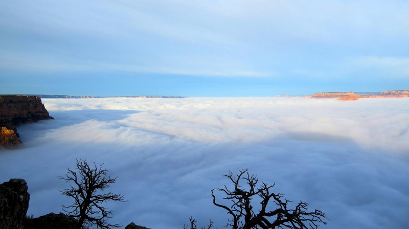This is What the Grand Canyon Filled with Clouds Looks Like