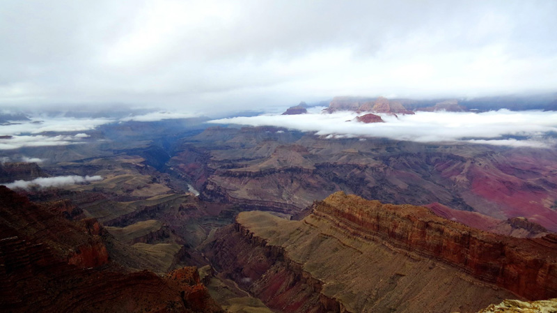 grand canyon filled with clouds inversion 2014 (5)