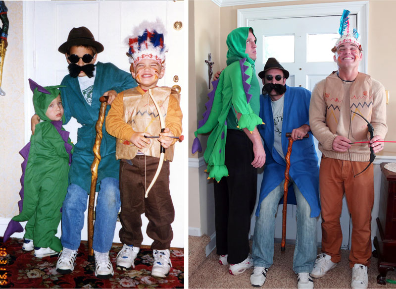 Three Brothers and their Dad Make a Calendar of Recreated Photos for Mom (6)