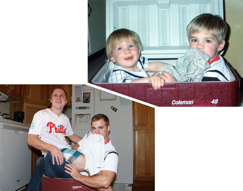 Three Brothers and their Dad Make a Calendar of Recreated Photos for Mom (11)