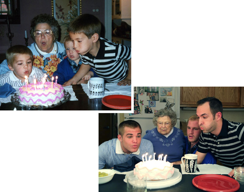 Three Brothers and their Dad Make a Calendar of Recreated Photos for Mom (8)